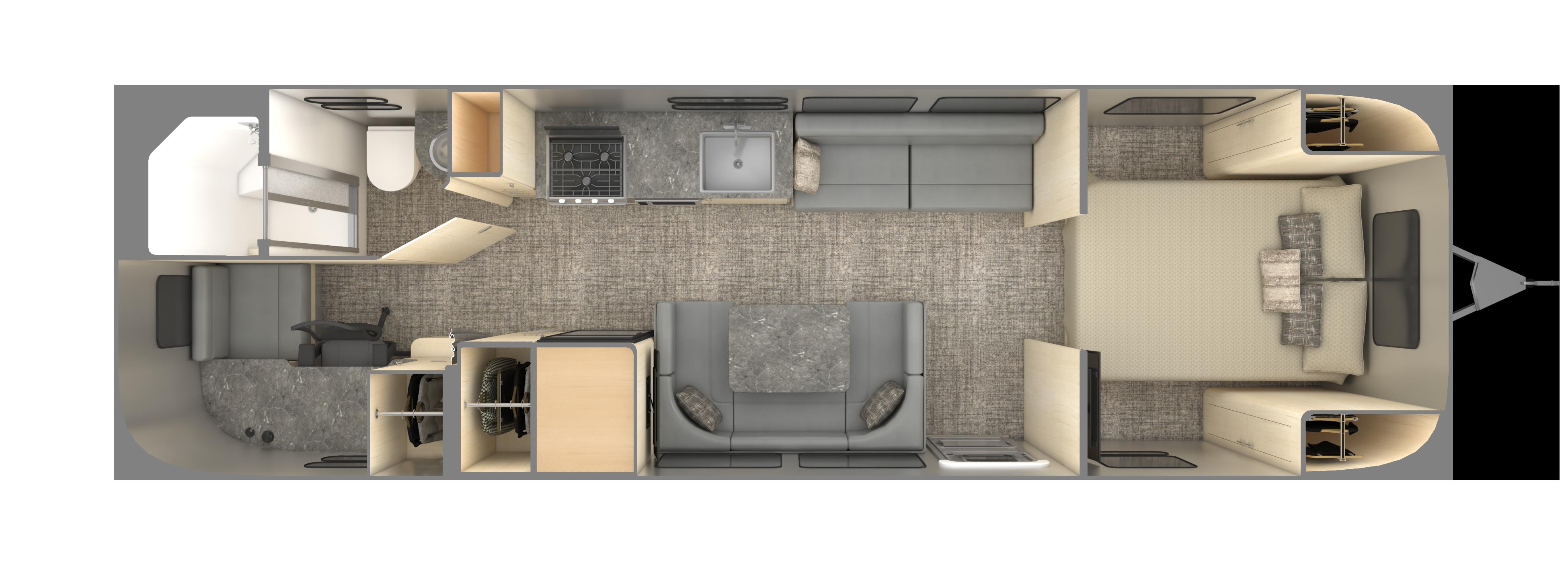 2021 Flying Cloud 30FB Floorplan SeattleMist WEB